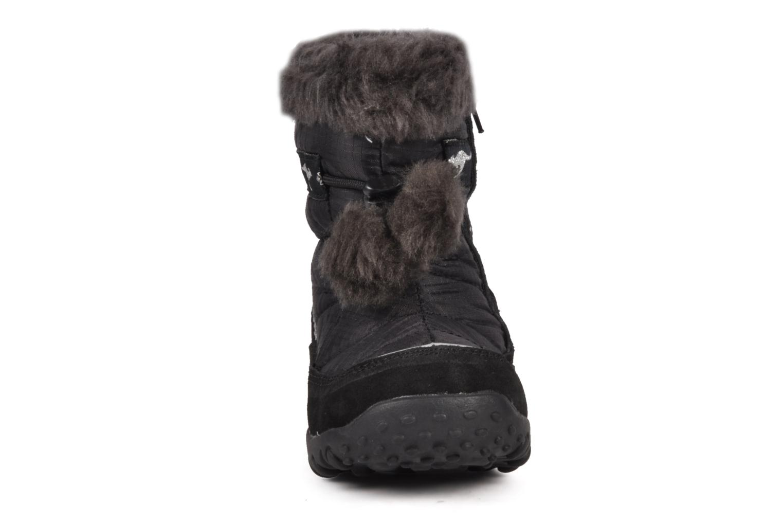 Bottes Kangaroos Fluffy Noir vue portées chaussures