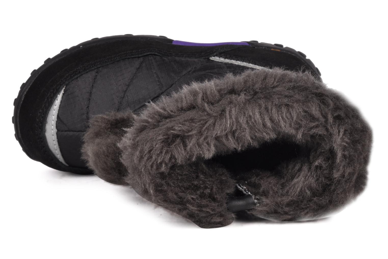 Bottes Kangaroos Fluffy Noir vue gauche