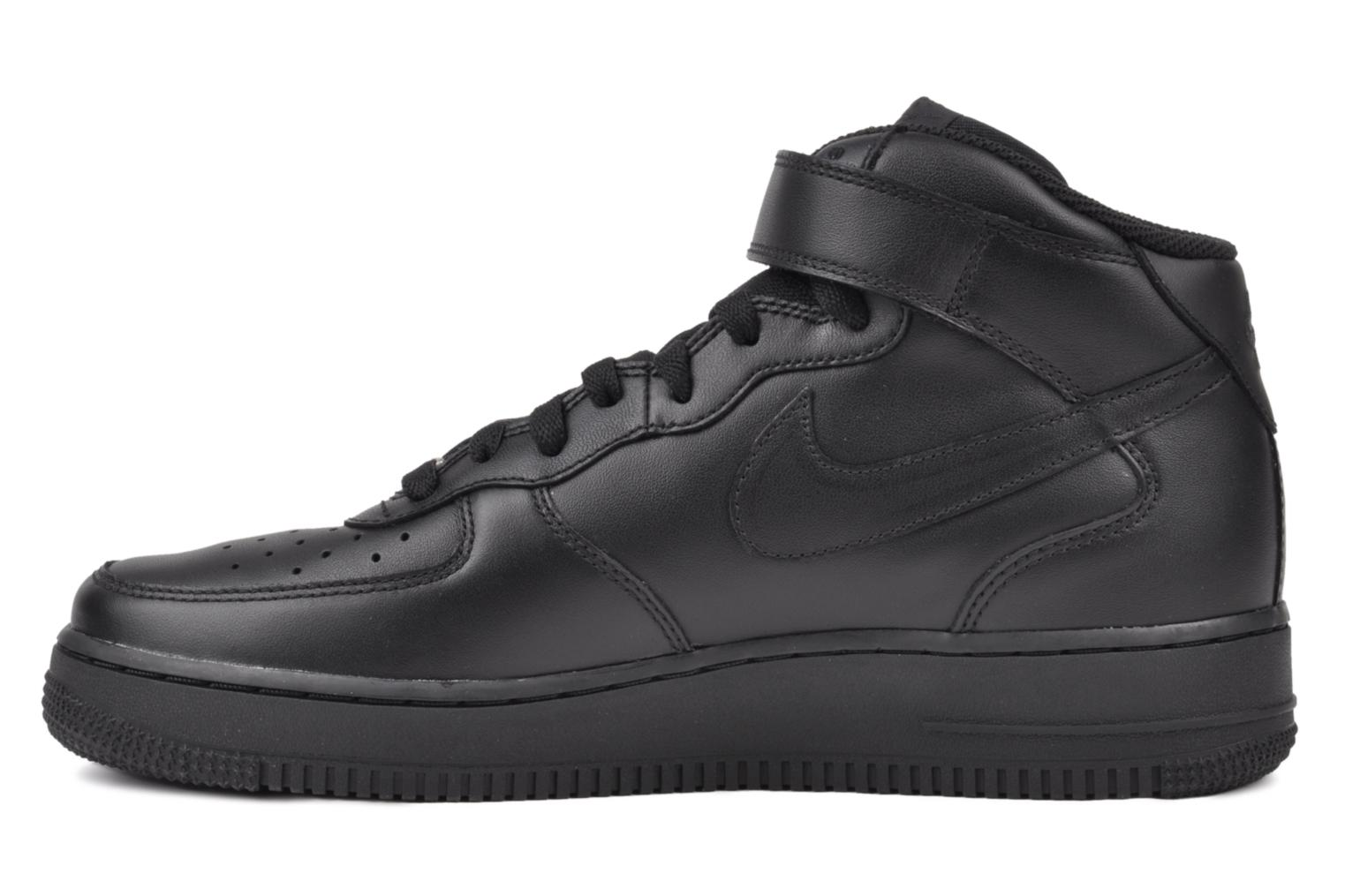Trainers Nike Air Force 1 Mid Black front view