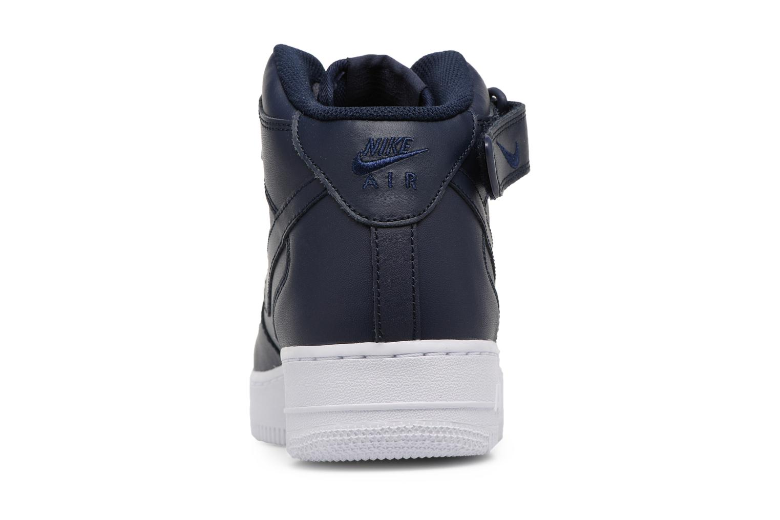 Trainers Nike Air Force 1 Mid Blue view from the right