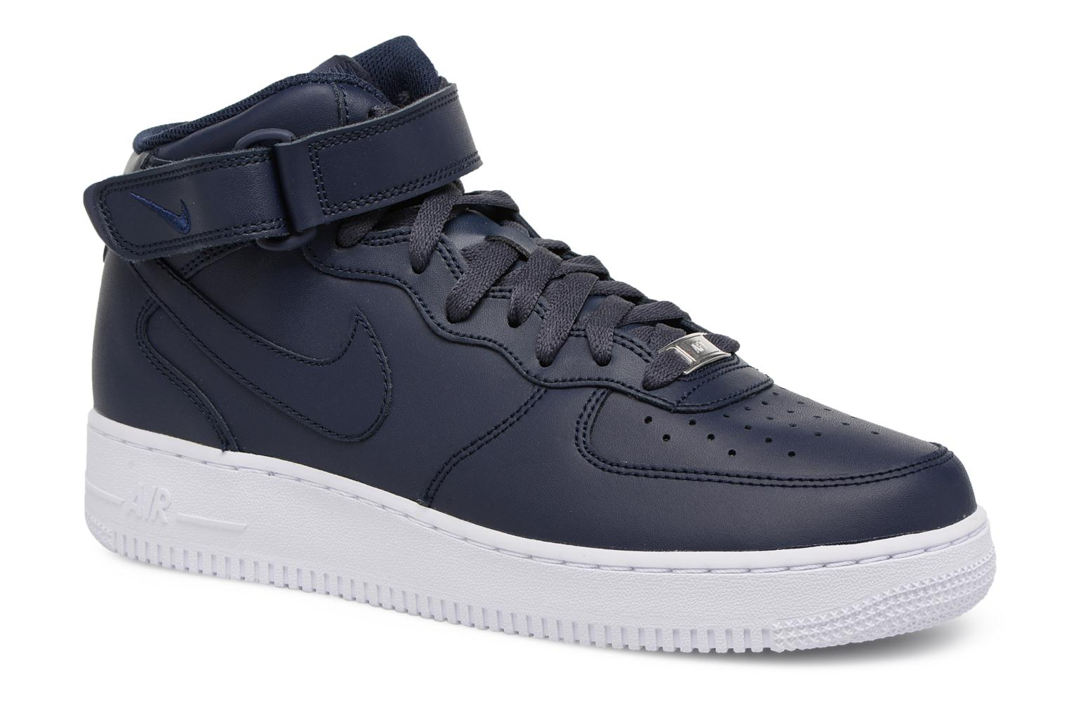 Sneakers Nike Air Force 1 Mid Blå detaljerad bild på paret