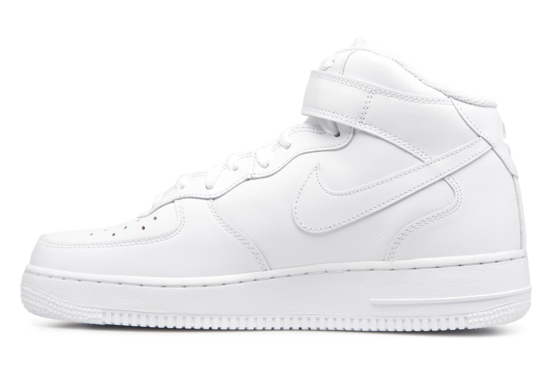 Deportivas Nike Air Force 1 Mid Blanco vista de frente