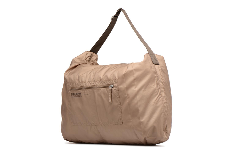 Sporttaschen Bensimon Shoulder Bag beige schuhe getragen