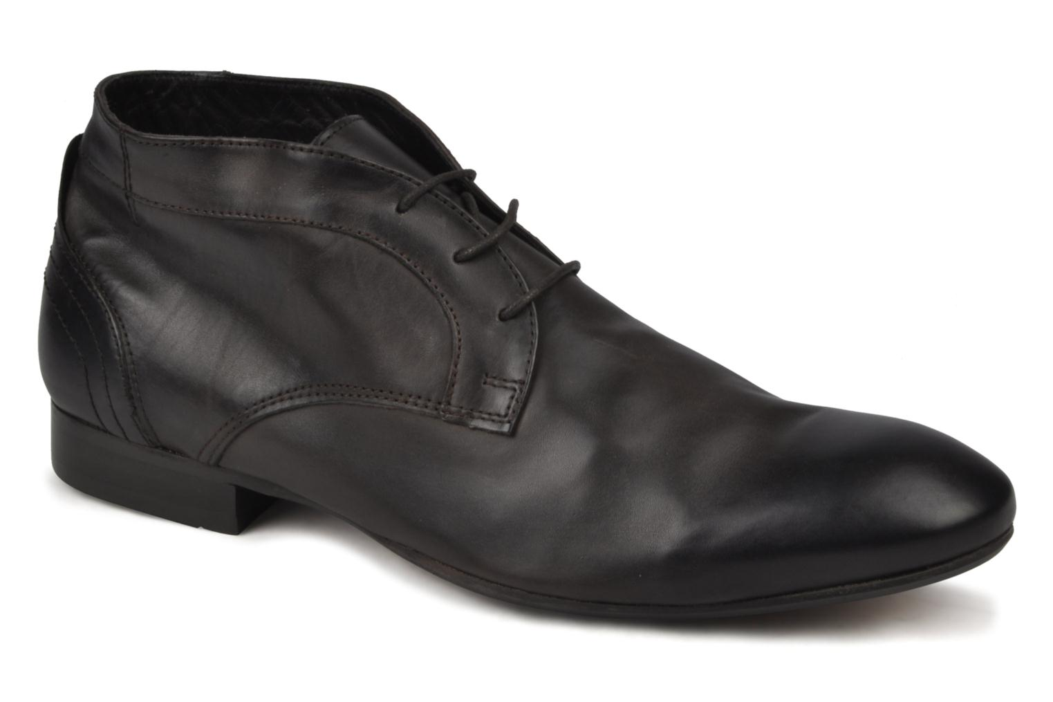 Lace-up shoes H by Hudson Thursom Brown detailed view/ Pair view