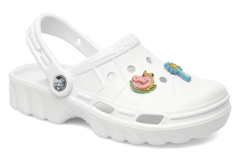 Sandales et nu-pieds Skechers Cali Gear Whirlies E Blanc vue détail/paire