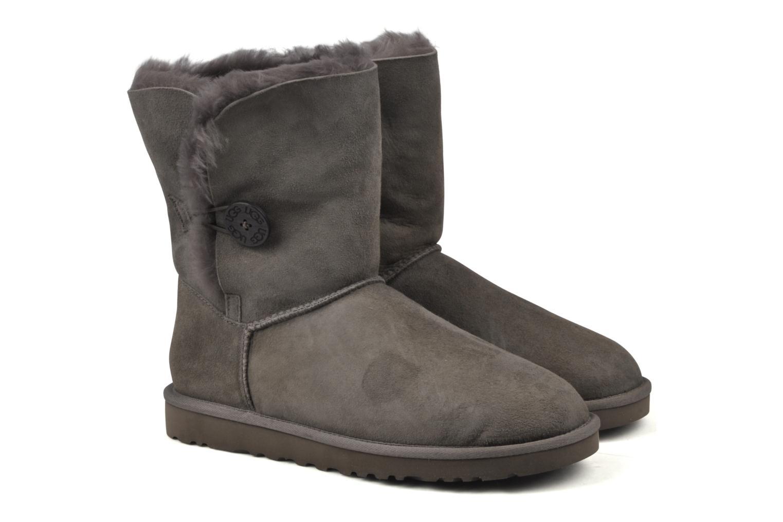 Bottines et boots UGG Bailey Button Gris vue 3/4