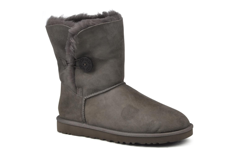 Bottines et boots UGG Bailey Button Gris vue détail/paire