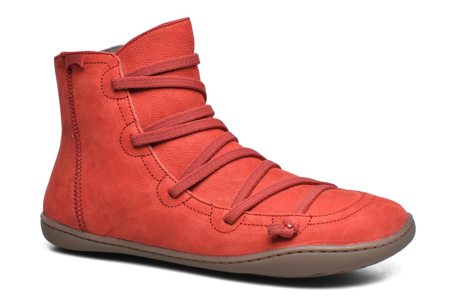 Ankle boots Camper Peu Cami 46104 Red detailed view/ Pair view