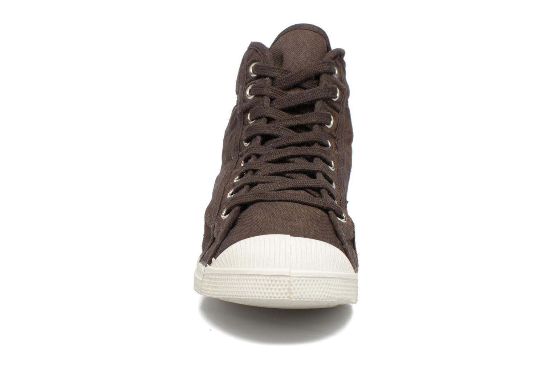 Sneaker Bensimon Tennis Mid H braun schuhe getragen