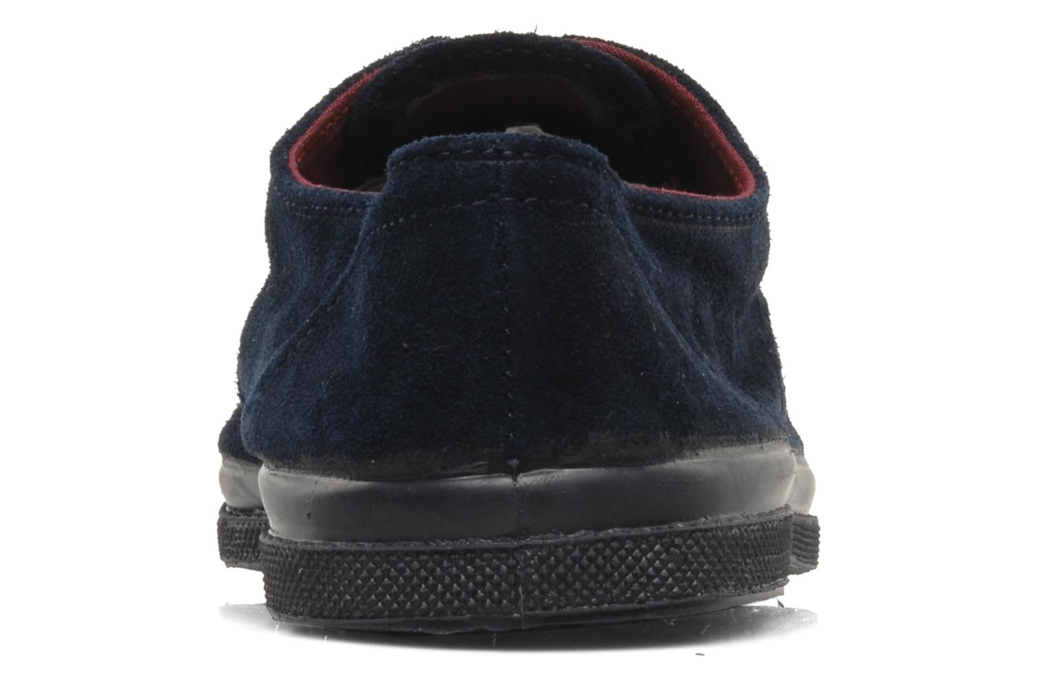 Trainers Bensimon Tennis Suede H Blue view from the right