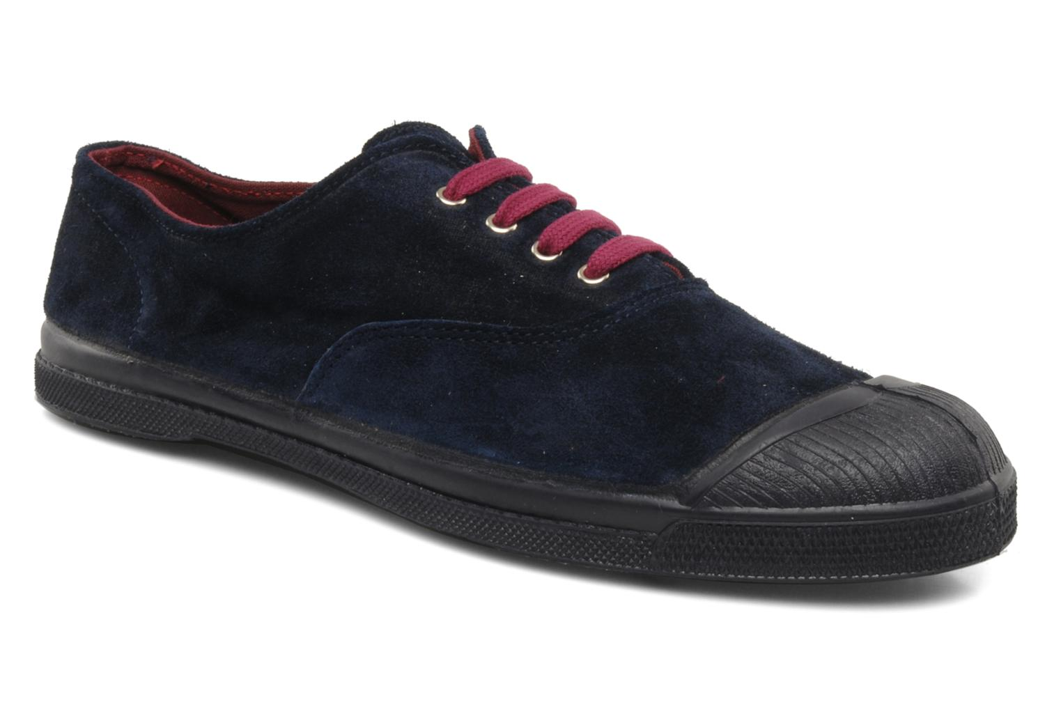 Trainers Bensimon Tennis Suede H Blue detailed view/ Pair view