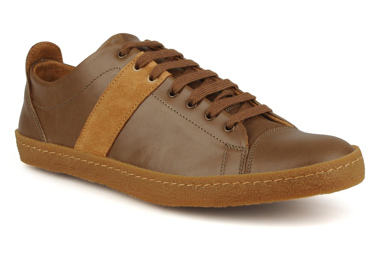 Sneakers Bensimon Tennis Harrys Cuir H Bruin detail