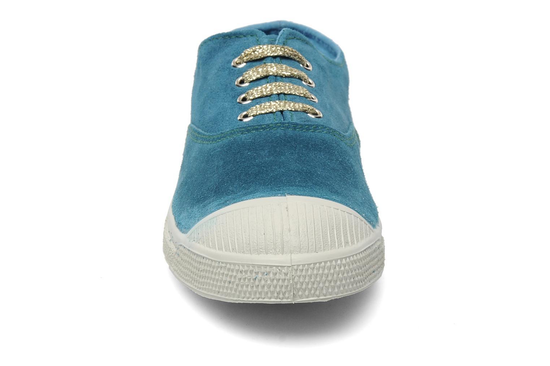 Baskets Bensimon Tennis Suede F Bleu vue portées chaussures