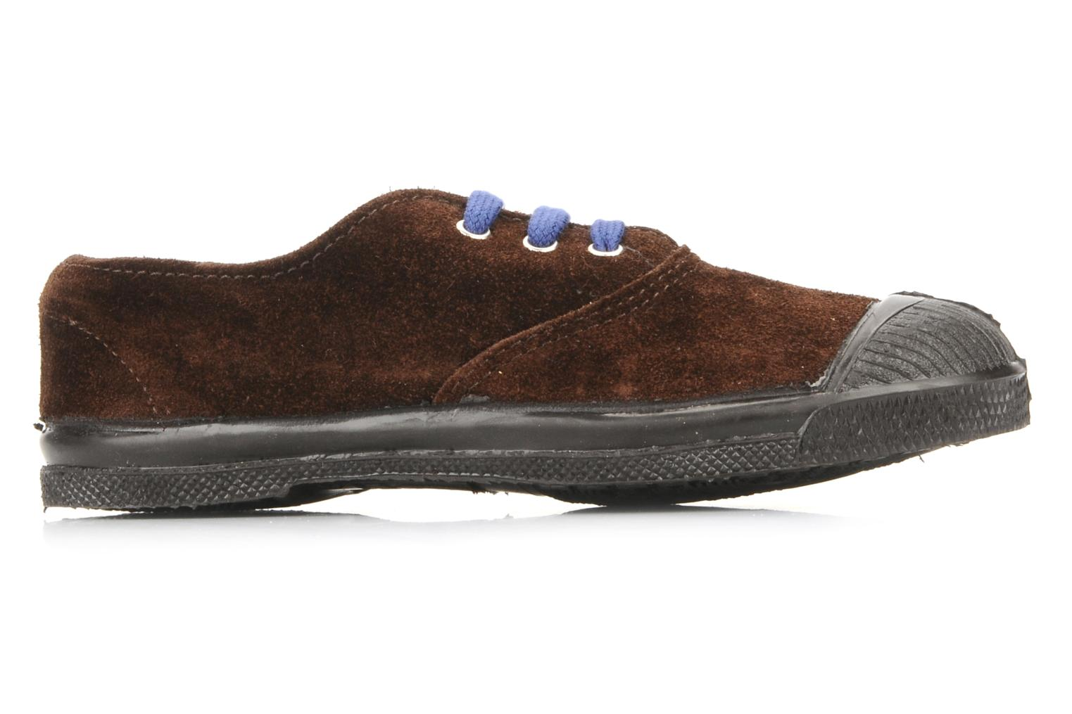 Trainers Bensimon Tennis Suede E Brown back view