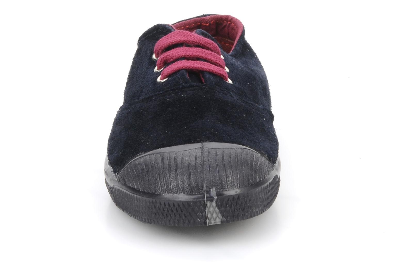 Baskets Bensimon Tennis Suede E Bleu vue portées chaussures