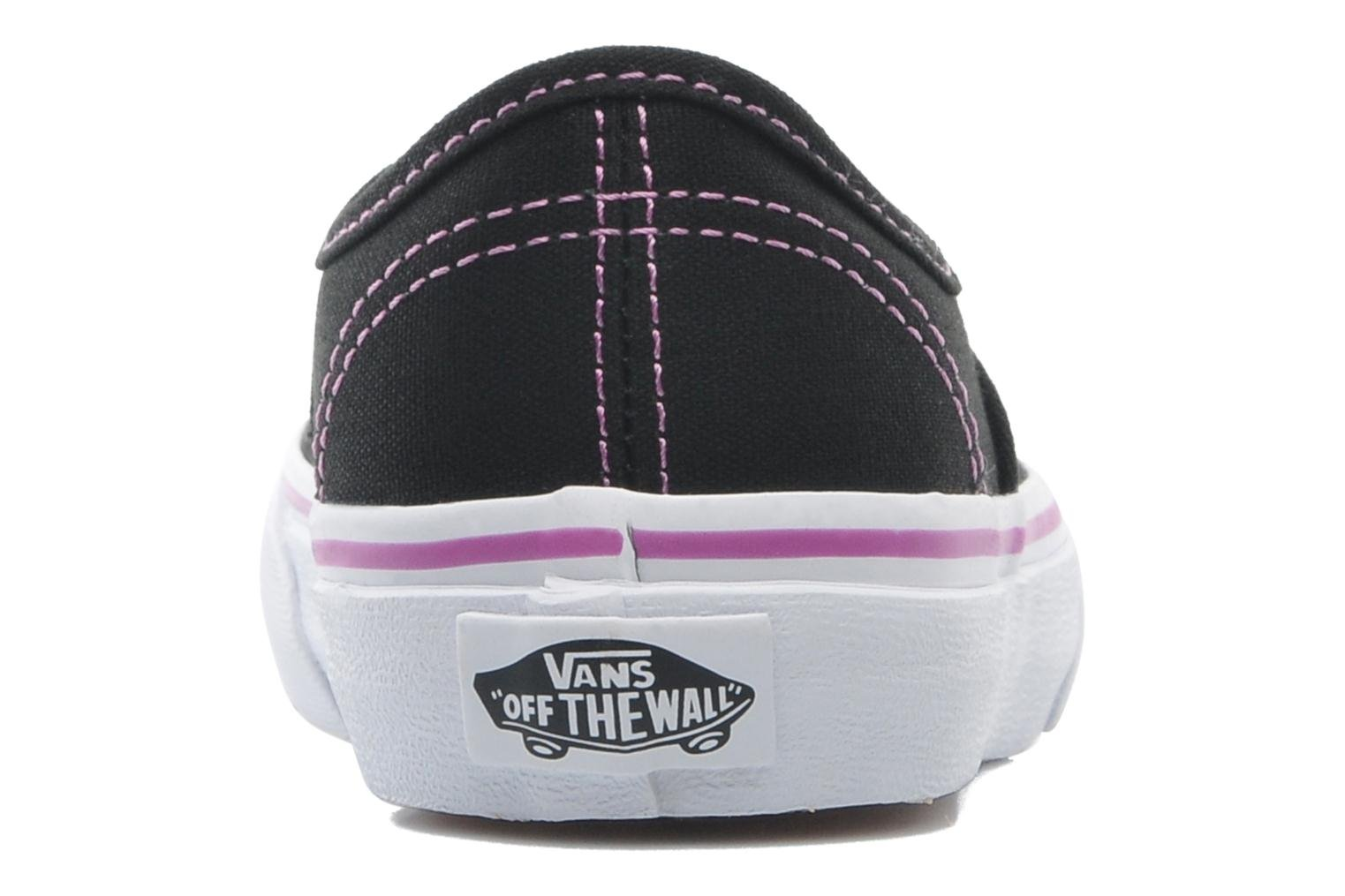 Baskets Vans Authentic BB Noir vue droite