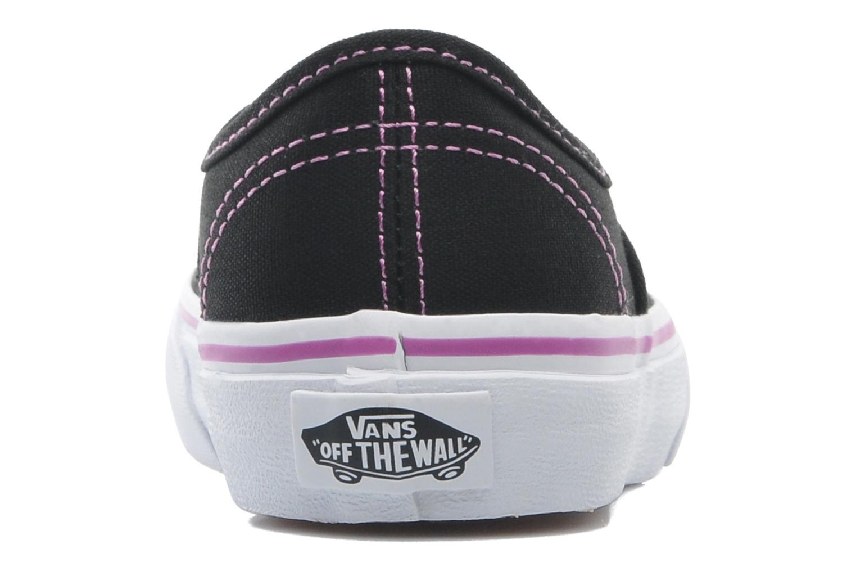 Baskets Vans Authentic BB Noir vue droite