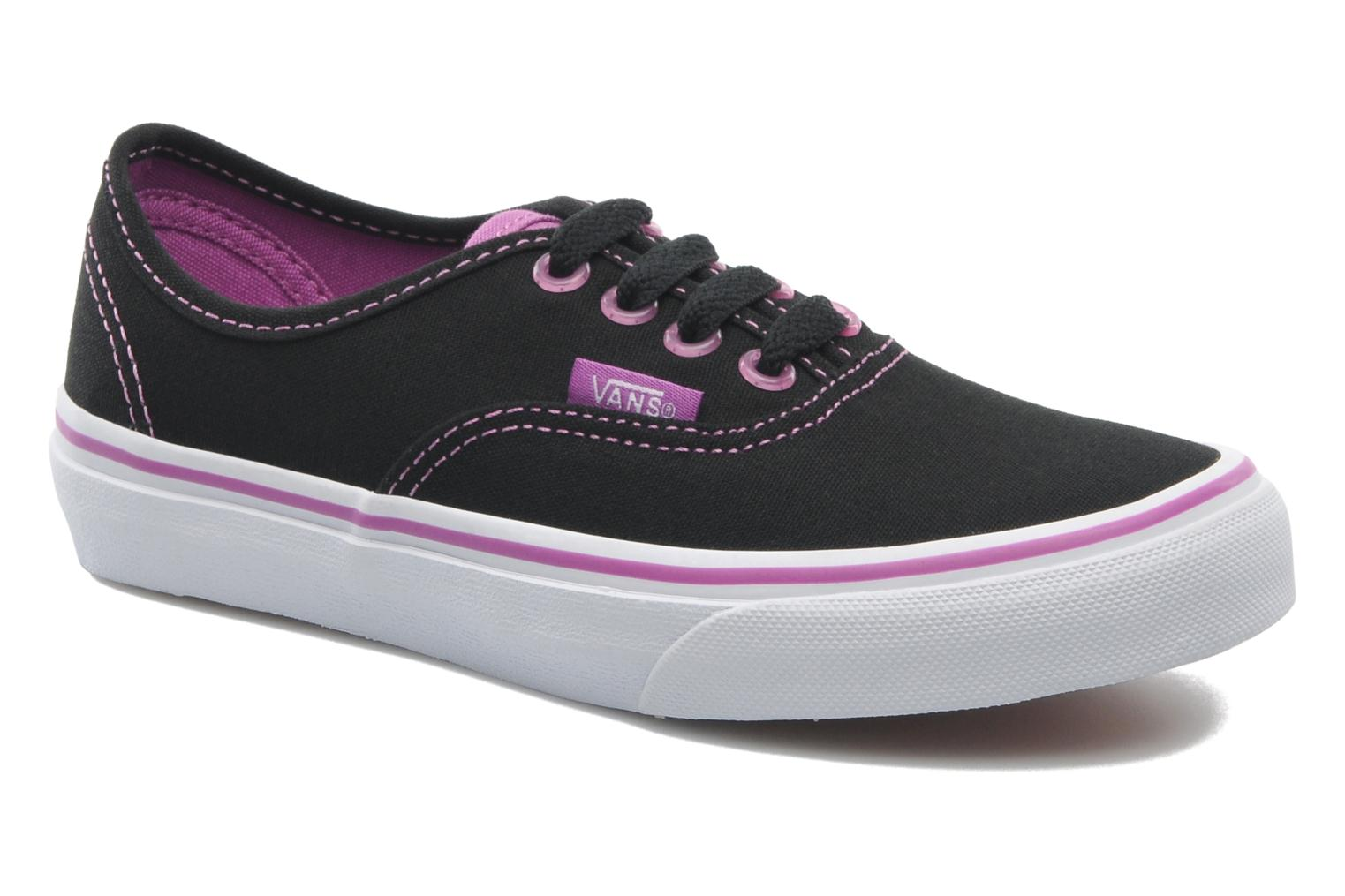 Baskets Vans Authentic BB Noir vue détail/paire