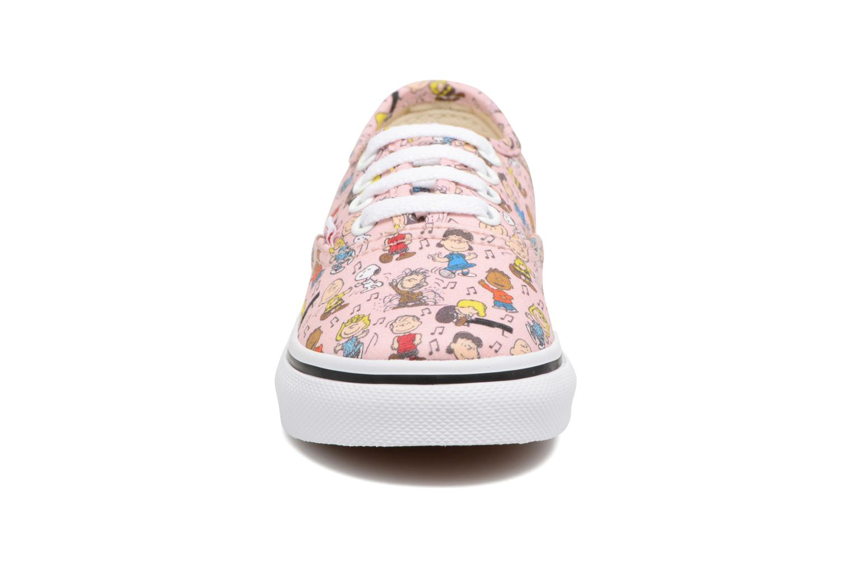 Baskets Vans Authentic BB Rose vue portées chaussures