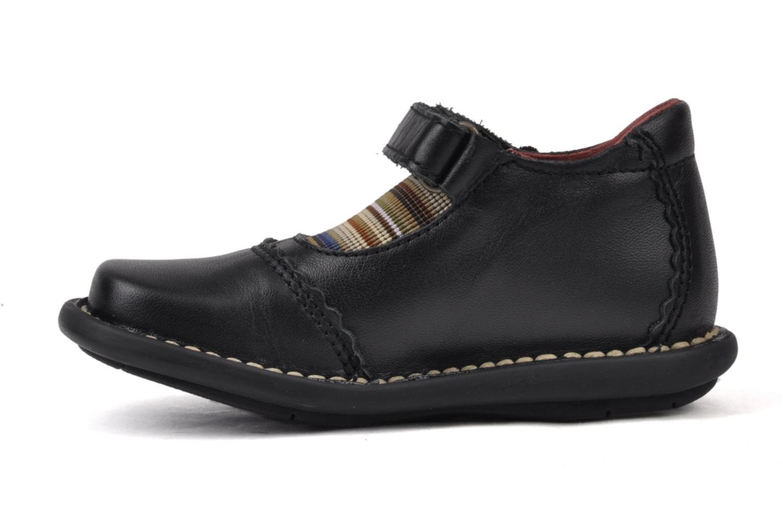 Chaussures à scratch Kickers Makup Noir vue face
