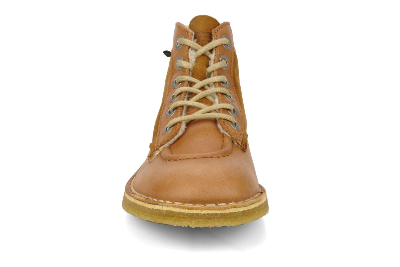 Bottines et boots Kickers Kick legend H Marron vue portées chaussures