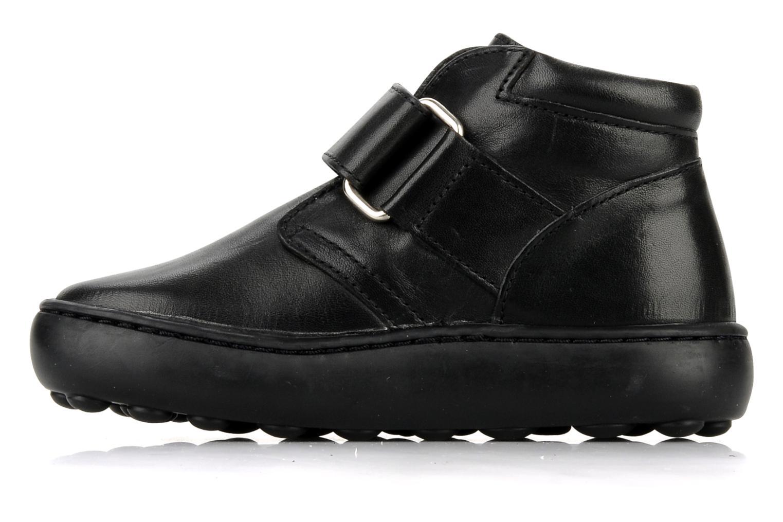 Chaussures à scratch Pom d Api Walk Desert Velcro Noir vue face