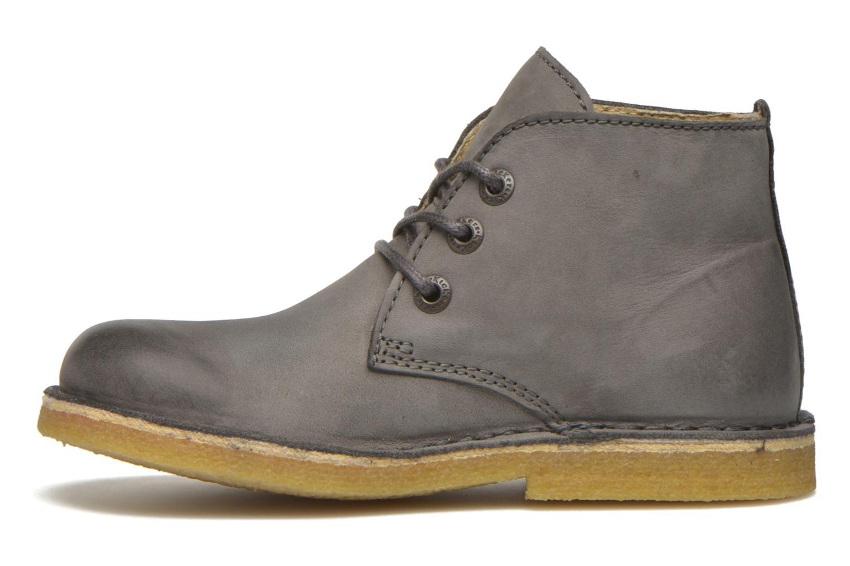 Zapatos con cordones Kickers Realkiz Gris vista de frente