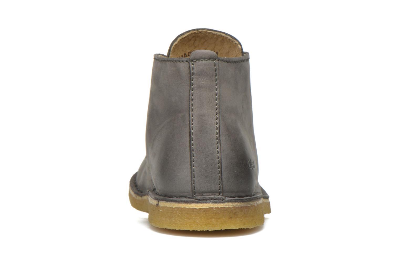 Zapatos con cordones Kickers Realkiz Gris vista lateral derecha