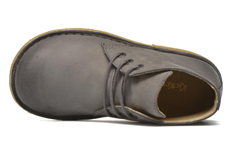 Zapatos con cordones Kickers Realkiz Gris vista lateral izquierda