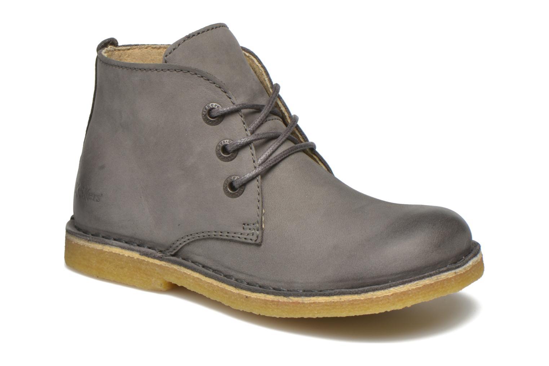 Zapatos con cordones Kickers Realkiz Gris vista de detalle / par