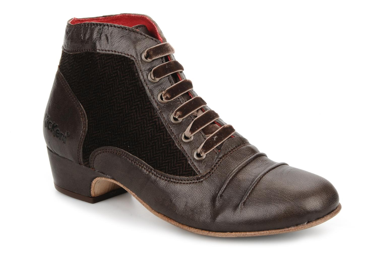 Boots en enkellaarsjes Kickers Ginger Bruin detail