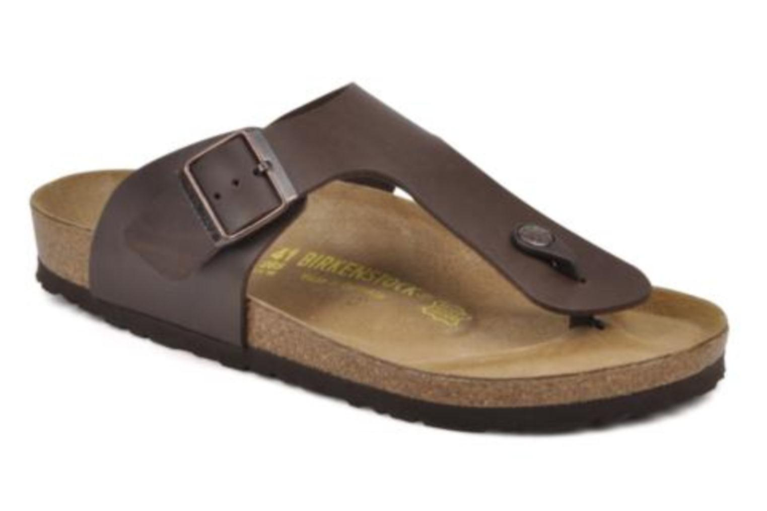 Flip flops Birkenstock Ramses M Brown detailed view/ Pair view