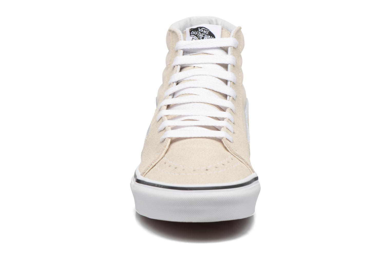 Baskets Vans SK8 Hi W Blanc vue portées chaussures
