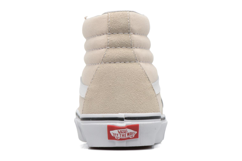 Baskets Vans SK8 Hi W Blanc vue droite