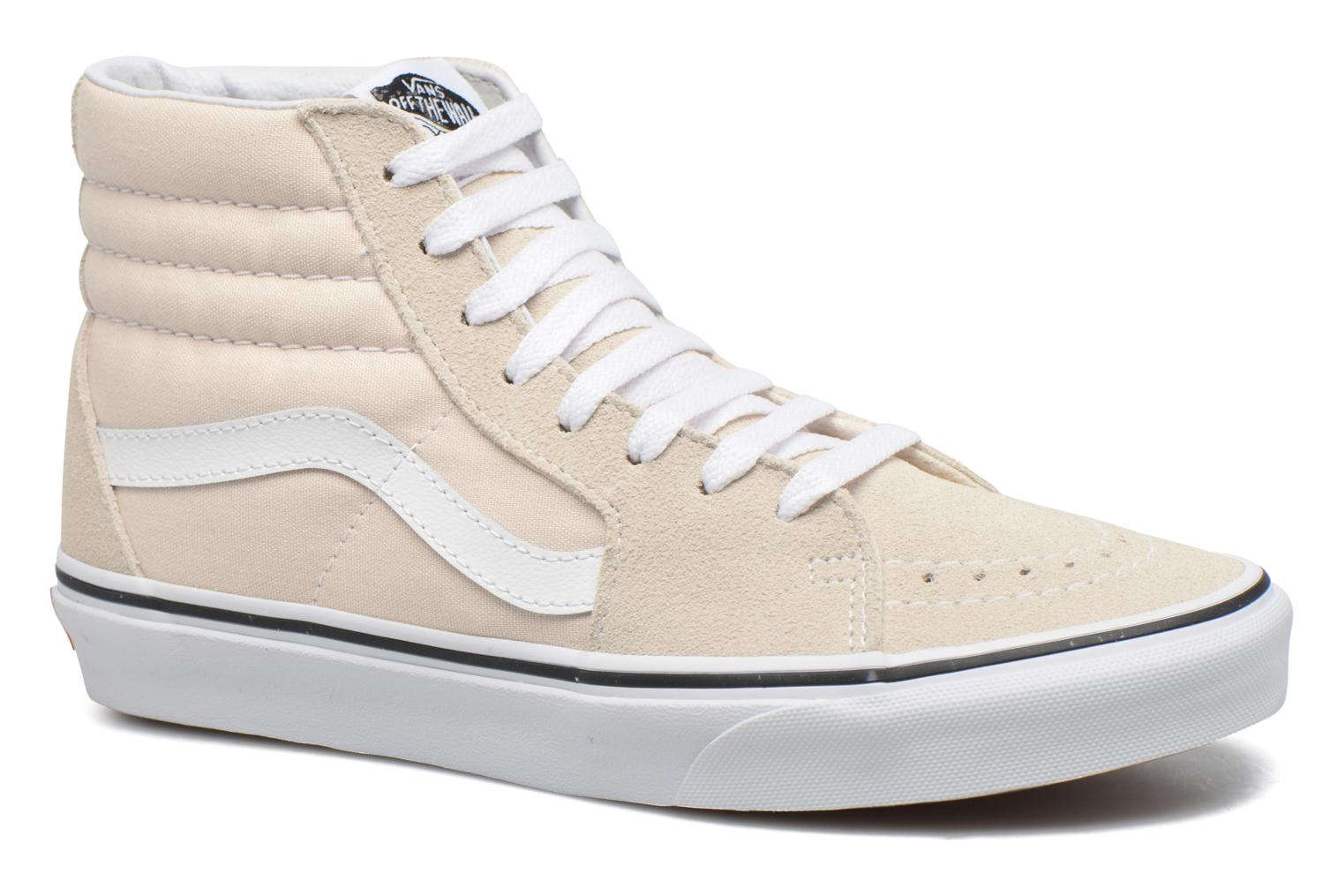 Trainers Vans SK8 Hi W White detailed view/ Pair view