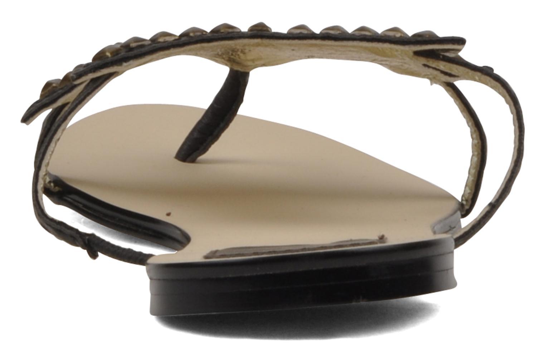 Sandales et nu-pieds Chocolate Schubar Star Noir vue face