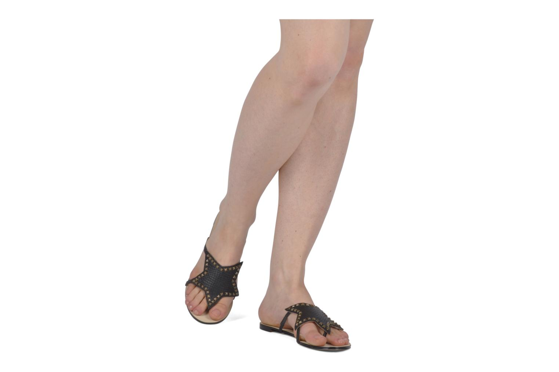 Sandales et nu-pieds Chocolate Schubar Star Noir vue haut
