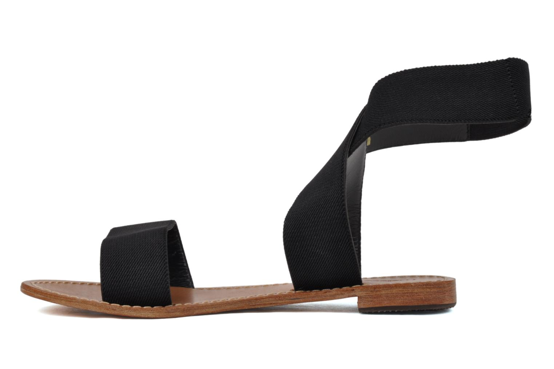 Sandales et nu-pieds Mellow Yellow Haussmann Noir vue face