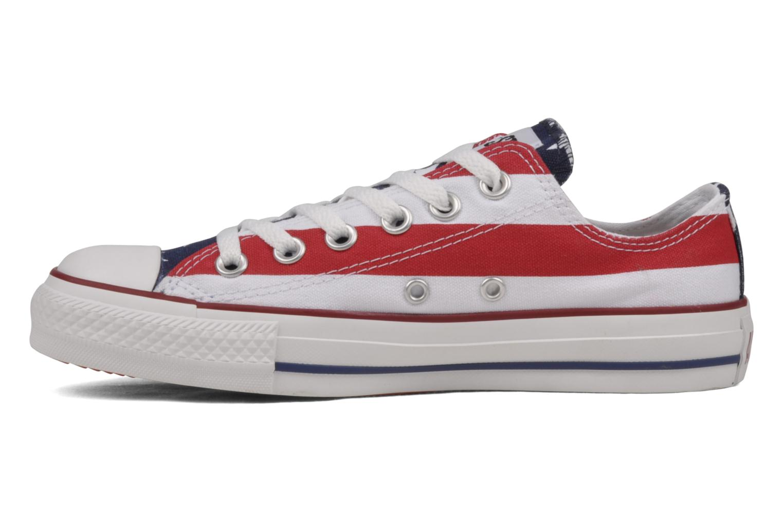 Sneakers Converse Chuck Taylor All Star Stars & Bars ox w Bianco immagine frontale