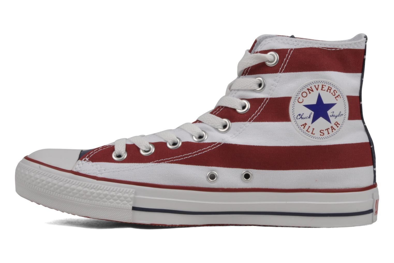 Sneaker Converse Chuck Taylor All Star Stars & Bars Hi M weiß ansicht von vorne