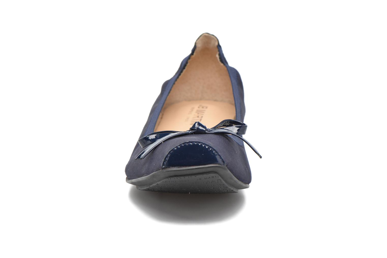 Ballerines JB MARTIN Yeti Bleu vue portées chaussures