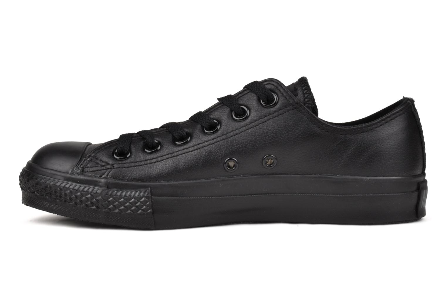 Baskets Converse Chuck Taylor All Star Monochrome Leather Ox W Noir vue face