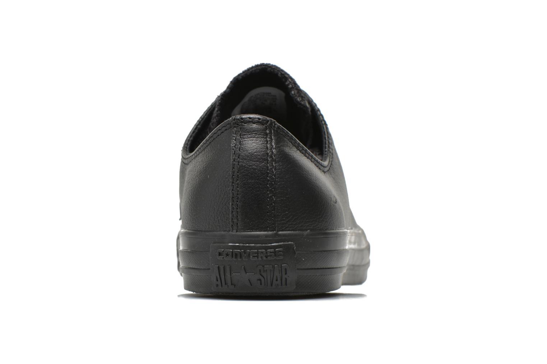 Baskets Converse Chuck Taylor All Star Monochrome Leather Ox M Noir vue droite