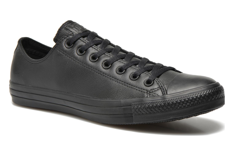 Baskets Converse Chuck Taylor All Star Monochrome Leather Ox M Noir vue détail/paire