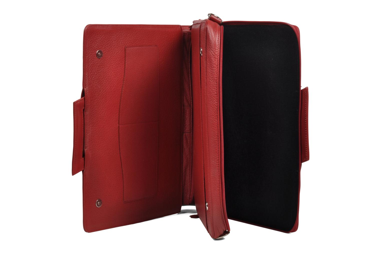 Business Lin & Gelli Elegy Laptop Rojo vista lateral izquierda