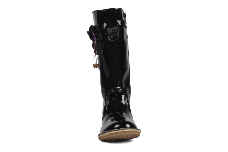 Bottes Kickers Falbala Noir vue portées chaussures