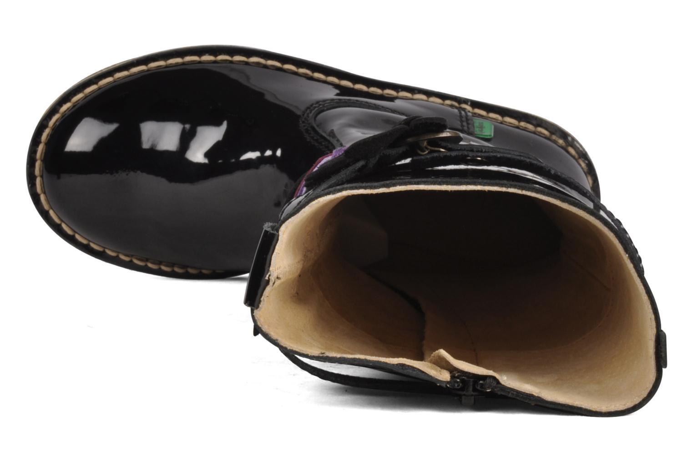 Stiefel Kickers Falbala schwarz ansicht von links