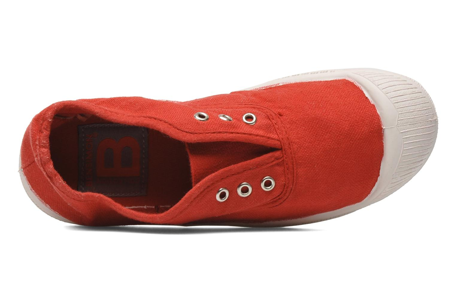 Trainers Bensimon Tennis Elly E Red view from the left