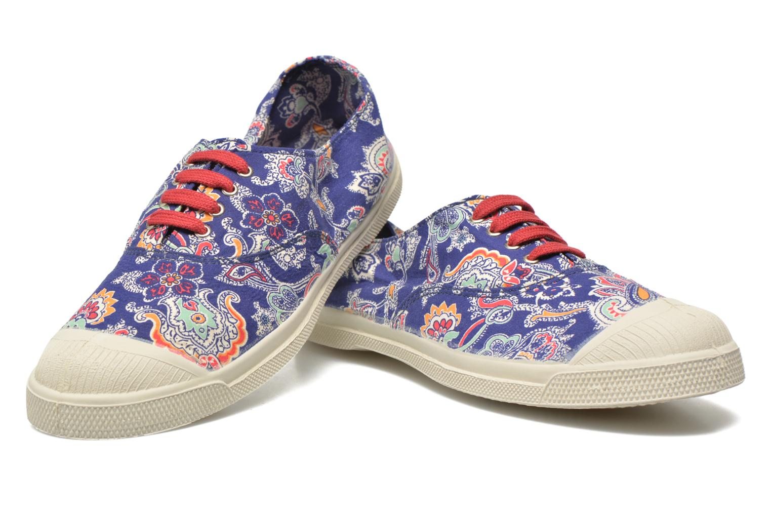 Baskets Bensimon Tennis Liberty Bleu vue 3/4