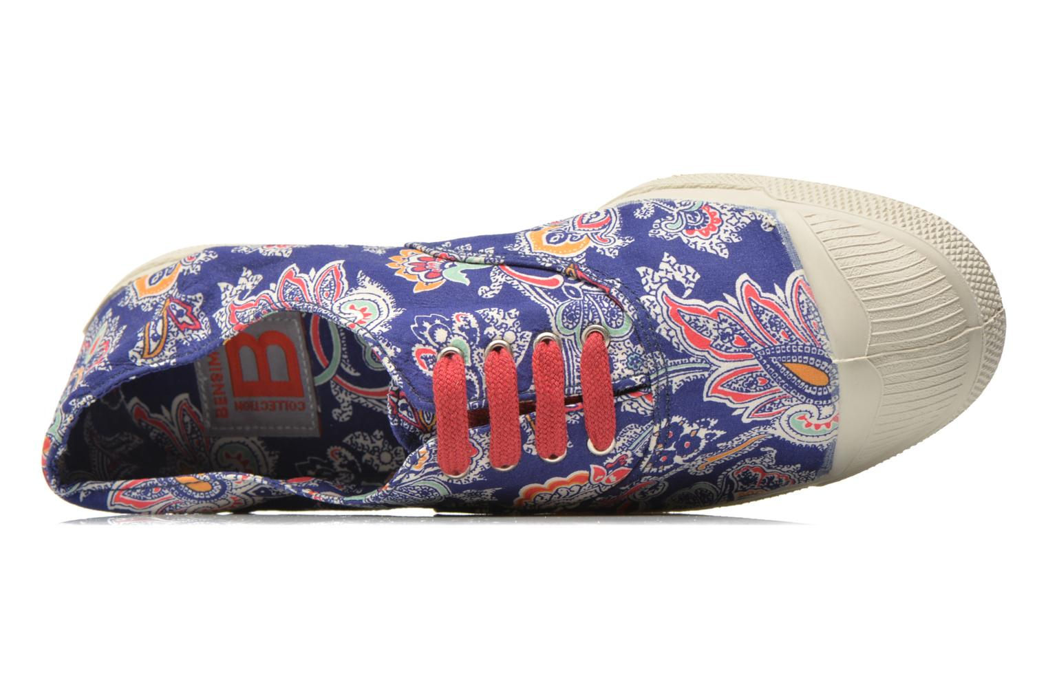 Trainers Bensimon Tennis Liberty Blue view from the left